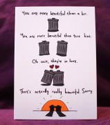 Valentines Card with bins on